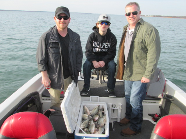 Brian austin and david on march 7th for Lake ray roberts fishing report